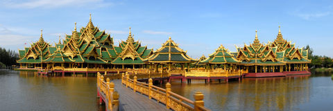The temple complex on the water Royalty Free Stock Photo