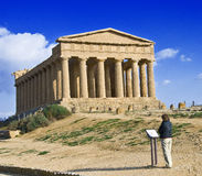 Temple of Concord. On the Valley of Temples, Agrigento, Sicily royalty free stock images