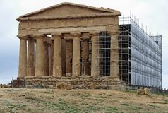 Temple of Concord Agrigento stock photography