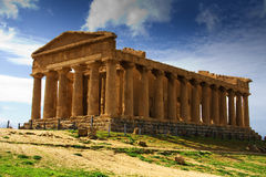 Temple of Concord - Sicily. Extraordinary greek temple in the Valley of the Temples in Agrigento - Sicily Royalty Free Stock Photos
