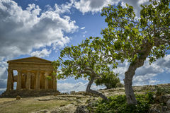 Temple of concord - sicily Stock Image