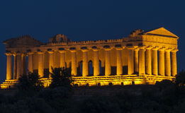 Temple of concord valley of the Temples agrigento sicily Italy europe Stock Image