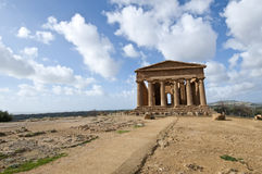 Temple of Concordia. In the Valley of the Temples in Agrigento stock photo