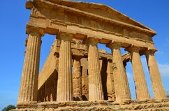 Temple of Concordia, Agrigento stock images