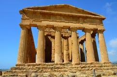 Temple of Concordia, Agrigento stock photos