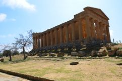 Temple of Concordia, Agrigento stock photography