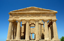 Temple of Concordia in Agrigento Italy. The most famous Greek temple in the Valley of the Temples in Agrigento Royalty Free Stock Images