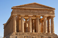 Temple of Concordia. Agrigento, Italy. Front of the temple of Concordia in Valley of the Temples Royalty Free Stock Image