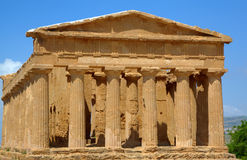 Temple of Concordia in Agrigento. Royalty Free Stock Image