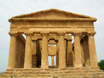 Temple of Concordia in Agrigento, Sicily - Italy. The Temple of Concordia is an ancient greek temple in the famous Valle dei Templi, UNESCO World Heritage Site Stock Photography