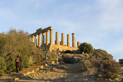 Temple of Concordia at Agrigento Valley of the Temple Sicily Ita Royalty Free Stock Photography