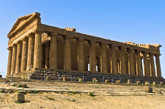 Temple of Concordia at Agrigento Valley of the Temple, Sicily Royalty Free Stock Photo