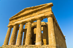 Temple of Concordia at Agrigento Valley of the Temple, Sicily Royalty Free Stock Photos