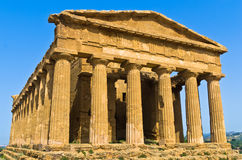 Temple of Concordia at Agrigento Valley of the Temple, Sicily Royalty Free Stock Images