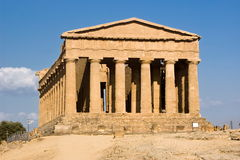 Temple of Concordia, Agrigento Royalty Free Stock Images