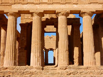Temple of Concordia an ancient Greek temple in the Valley of the Temples - Agrigento - Sicily Stock Photos