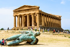 Temple Of Concordia With Fallen Icarus Stock Image