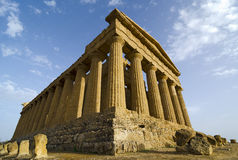 Temple of Concordia at Sunset Stock Image