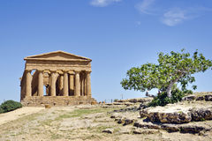 Temple of Concordia - Valley of the Temples Stock Photo