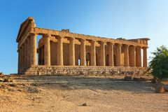 Temple of Concordia in the Valley of the Temples in Agrigento Royalty Free Stock Images