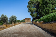 Temple of Concordia in the Valley of Temples - Agrigento, Sicily, Italy Stock Photos