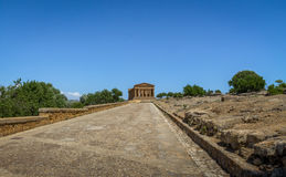 Temple of Concordia in the Valley of Temples - Agrigento, Sicily, Italy Royalty Free Stock Photo