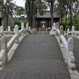 A temple for Confucius. Wenmiao, the temple of Confucius in Xingcheng, northeast China Stock Photo