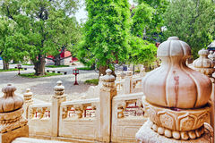 Temple of Confucius at Beijing is the second largest Confucian T Stock Image