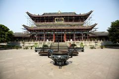 Temple in construction Royalty Free Stock Photos