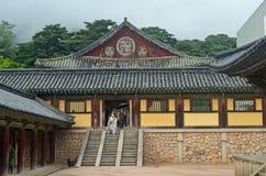 Temple coréen Images libres de droits