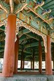 Temple coréen près de marché de Jungang Jeju, Corée du Sud images libres de droits