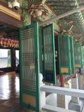 Temple coréen Windows de bouddhisme photos stock