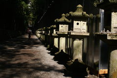 temple Corridor Royalty Free Stock Photos
