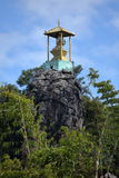 Temple on a crag at Loikaw in Myanmar Royalty Free Stock Photos