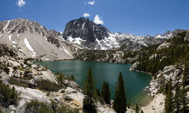 Temple Crag And Second Lake Stock Photo
