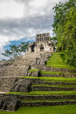 Temple of the Cross at mayan ruins of Palenque - Chiapas, Mexico Royalty Free Stock Photography