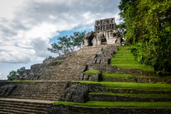 Temple of the Cross at mayan ruins of Palenque - Chiapas, Mexico Royalty Free Stock Images