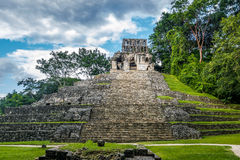 Temple of the Cross at mayan ruins of Palenque - Chiapas, Mexico Royalty Free Stock Photos