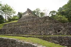 Temple of the cross in Palenque,Chiapas Royalty Free Stock Photos