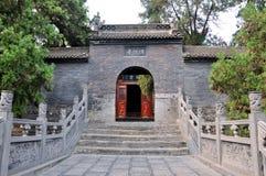 Temple décrit de bouddhisme dans le nord de la Chine Images stock