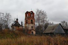 Temple délabré de l'icône de Kazan de la mère de Dieu Images libres de droits