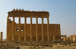 Temple détruit de Baal dans le Palmyra, Syrie Éliminé par ISIS maintenant Photo libre de droits