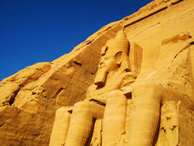 Temple d'Abu Simbel Photo stock