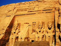 Temple d'Abu Simbel Images libres de droits