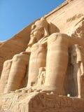 Temple d'Abu Simbel, Egypte Photographie stock