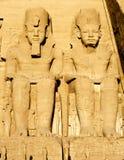 Temple d'Abu Simbel en Egypte Photos libres de droits