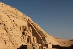 Temple d'Abu Simbel en Egypte Images libres de droits