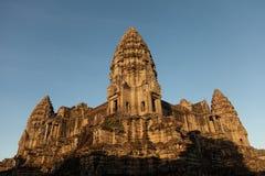 Temple d'Angkor avec la lumière de matin Image libre de droits