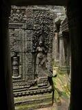 Temple d'Angkor - de Bayon Photo libre de droits
