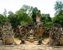 Temple d'Angkor Thom Image stock